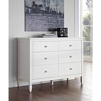 Dorel Living Vivienne White Six-Drawer Dresser