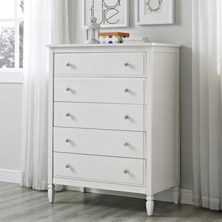 Dorel Living Vivienne White 5-Drawer Chest