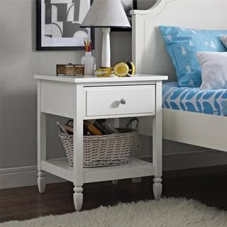 Dorel Living Vivienne White Nightstand