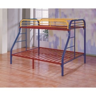 LYKE Home Kaylin Twin/Full Rainbow Bunk Bed
