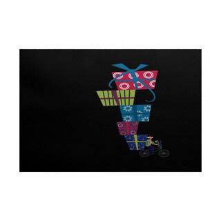 Special Delivery Geometric Print Indoor/ Outdoor Rug (4' x 6')