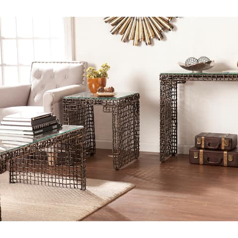 The Curated Nomad Belize Woven Cocktail Table