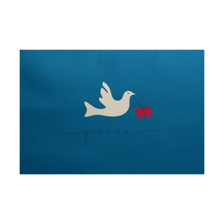 Peace Dove Animal Print Indoor/ Outdoor Rug (4' x 6')