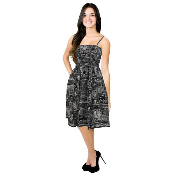 74a907936384e Shop La Leela Likre Stretchy tropical Strap Women Plus Size Tube ...