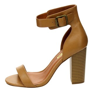 X2B BC82 Women's Block Heel Ankle Strap Party Shoes About One Size Smaller