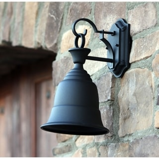 Bell Shape Outdoor Light Fixture Liberty Black Finish Steel Exterior Light Fixture