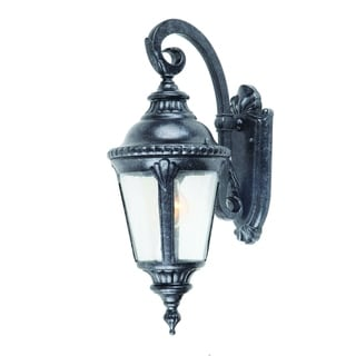 Brownstone Outdoor Light Fixture Dallin Brownstone Forged Metal Clear Seedy Glass Exterior Light