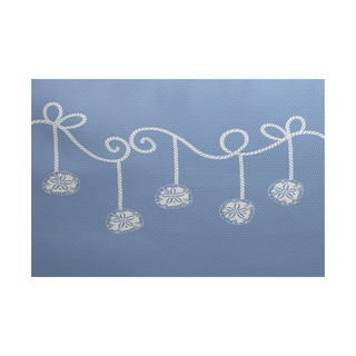 Sanddollar Ornaments Geometric Print Indoor/ Outdoor Rug (4' x 6')