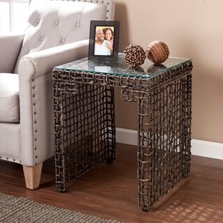 The Curated Nomad Belize Woven Side Table