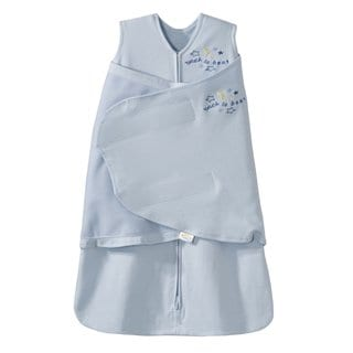 Halo Newborns' SleepSack Blue Cotton Swaddle