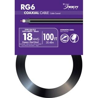 Southwire 56918243 100' Black 18 Gauge RG6 Coax Cable