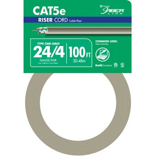Southwire 56917943 100' Grey 24 Gauge 4 Wire Riser Cord