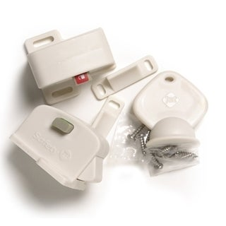 Safety 1st Plastic Magnetic Locking System Starter Set with 2 Locks and 1 Key