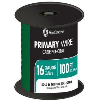 Southwire 56422023 100' Green 16 Gauge 19 Strand Primary Auto Wire