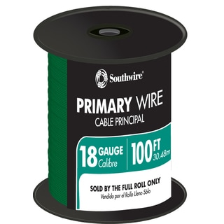 Southwire 55835023 100' Green 18 Gauge 16 Strand Primary Auto Wire