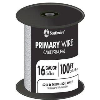 Southwire 55667923 100' White 16 Gauge 19 Strand Primary Auto Wire
