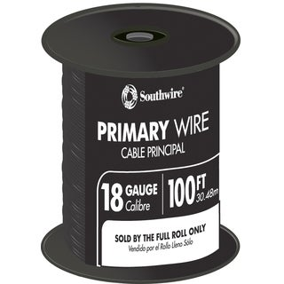 Southwire 55667323 100' Black 18 Gauge 16 Strand Primary Auto Wire