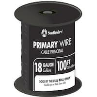 Southwire 55667323 100' Black 18 Gauge 16 Strand Primary Auto Wire