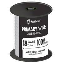 Southwire 55667223 100' White 18 Gauge 16 Strand Primary Auto Wire