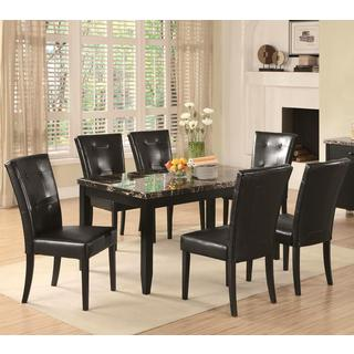Sasfay Contemporary Style Dining Set with Faux Marble Top