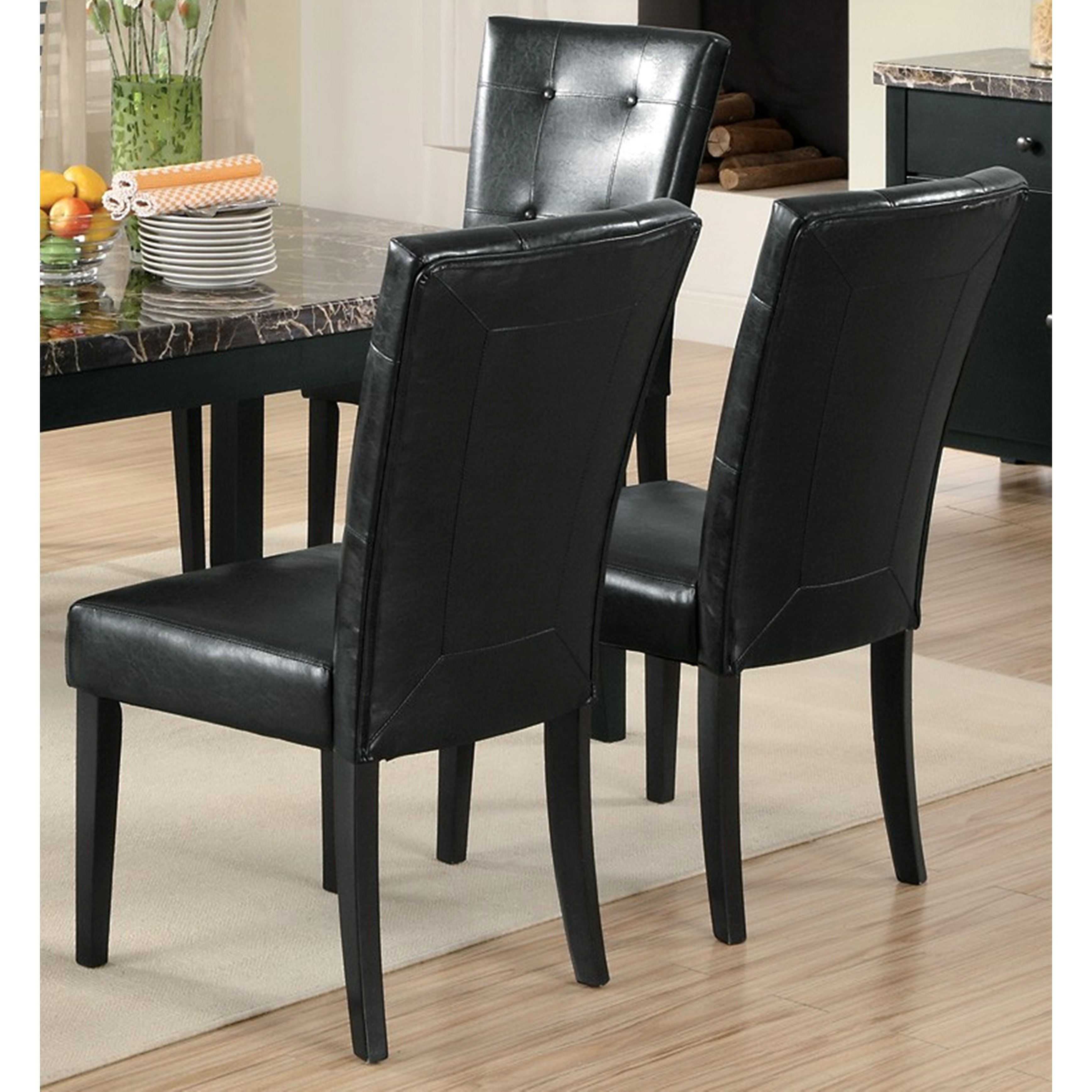 Sasfay Contemporary Style Dining Set with Faux Marble Top...