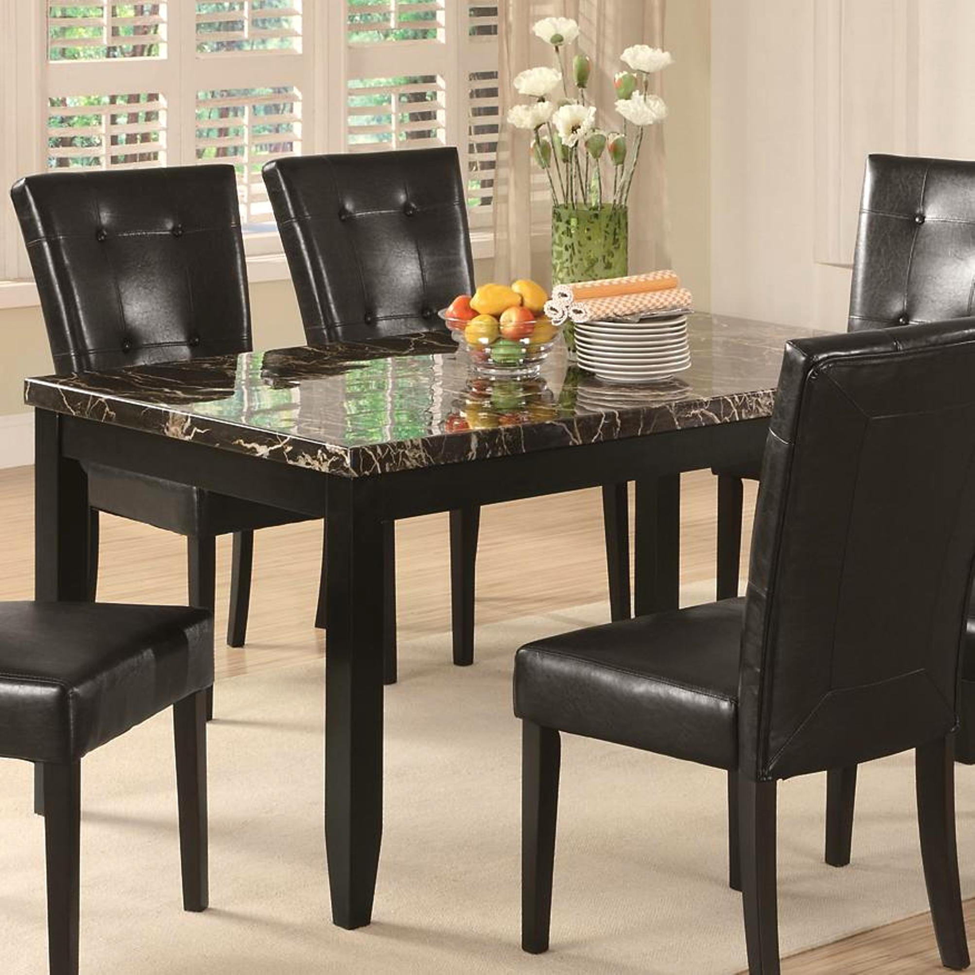 Details About Sasfay Contemporary Style Dining Set With Faux Marble Top
