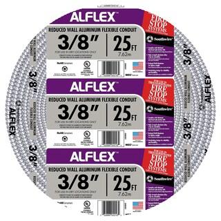 "Southwire 55082021 3/8"" X 25' Armor Flex Reduced Wall Flexible Aluminum Condui"