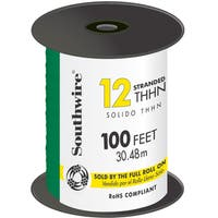Southwire 22968252 100' Green 12 Gauge 19 Strand Copper Building Wire