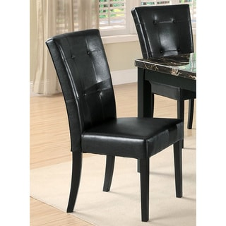 Sasfay Contemporary Style Black Dining Chairs (Set of 2)