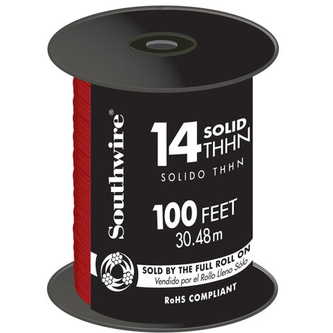 Southwire 22957552 100' Red 14 Gauge Stranded Copper Building Wire