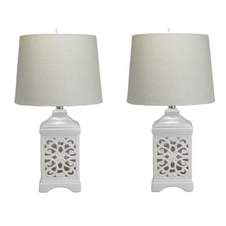Dulce White Table Lamps (Set of 2)
