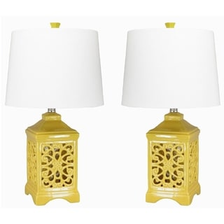 Dulce Yellow Table Lamps (Set of 2)