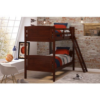 Woodcrest Pine Ridge Chocolate Finish Scored Bunk Bed