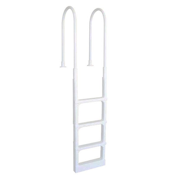 Main Access Swimming Pool Pro Series White Plastic In-Pool Ladder