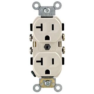 Leviton S06-0CR20-0TS Light Almond 20 Amp Duplex Receptacle