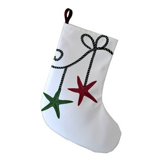 9 x 16-inch Starfish Ornament Geometric Print Stocking