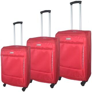 McBrine Eco-Friendly 3-piece Expandable Spinner Upright Luggage Set