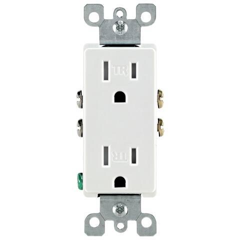 Leviton S02-T5325W White 15 Amp Decora Tamper Resistant Residential Receptacle