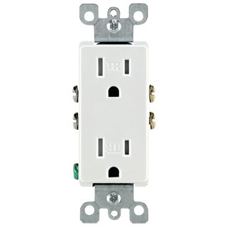 Leviton S02-T5325W White 15 Amp Decora Tamper Resistant Residential Receptacle
