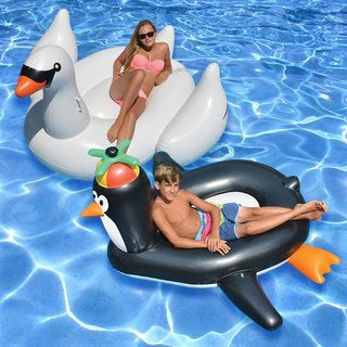 Swimline Giant Swan and Penguin (Set of 2)