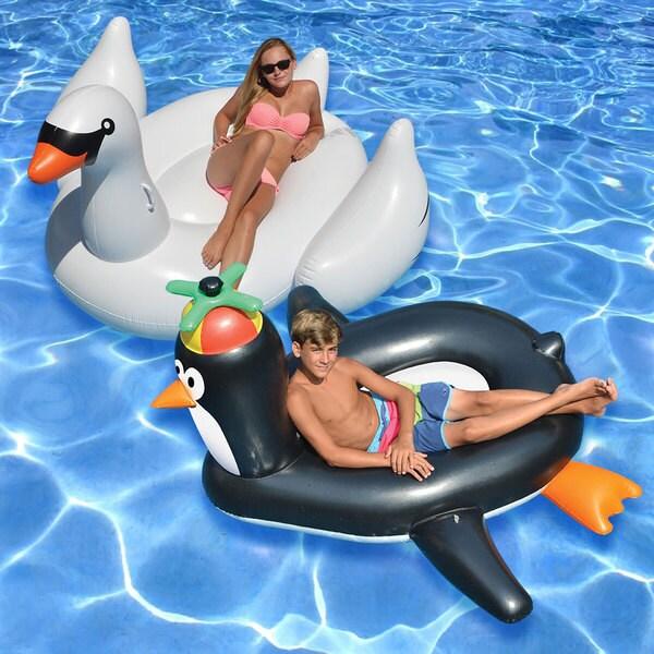 Swimline Giant Swan and Penguin (Set of 2)