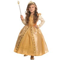 Girls' Gold Polyester Majestic Princess Costume