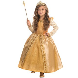 Girls' Gold Polyester Majestic Princess Costume (3 options available)