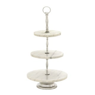 Gorgeous Metal Marble 3 Tier Tray