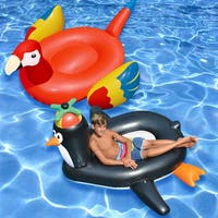 Swimline Giant Parrot and Penguin Floaters (Set of 2)