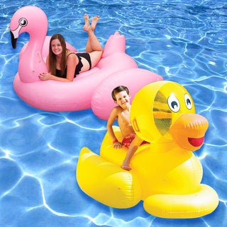 Jumbo Flamingo and Giant Ducky 2-Pack