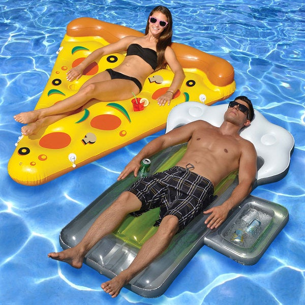 Shop Beer And Pizza 2 Piece Pool Float Set Free Shipping