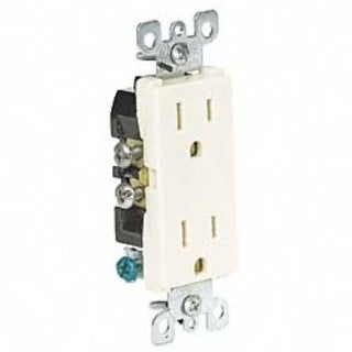 Leviton S01-05325-0IS Ivory Residential Grade Straight Blade Duplex Receptacle