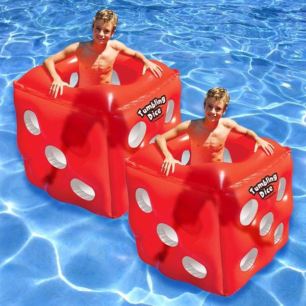 Swimline 2-pack Tumbling Dice Vinyl Float