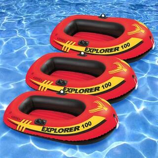 Intex Explorer 100 Inflatable Boats (Set of 3)